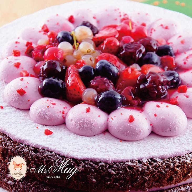 仲夏野莓!6種新鮮莓果配上布列塔尼綿密鮮奶霜~冰凍後還能享受莓果初乳冰淇淋般的美妙滋味! 草莓控、莓果控今年絕對不能錯過的仲夏夜之夢!【馬各先生仲夏野莓6吋】