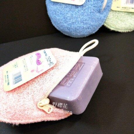 日本製沐浴用肥皂洗澡包4975229030625[野櫻花]
