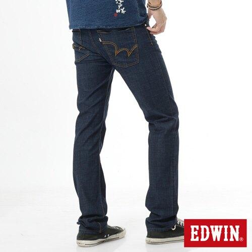 【滿額領券折$150】EDWIN EDGE 輕爽COOL 中直筒牛仔褲-男款 原藍 STRAIGHT