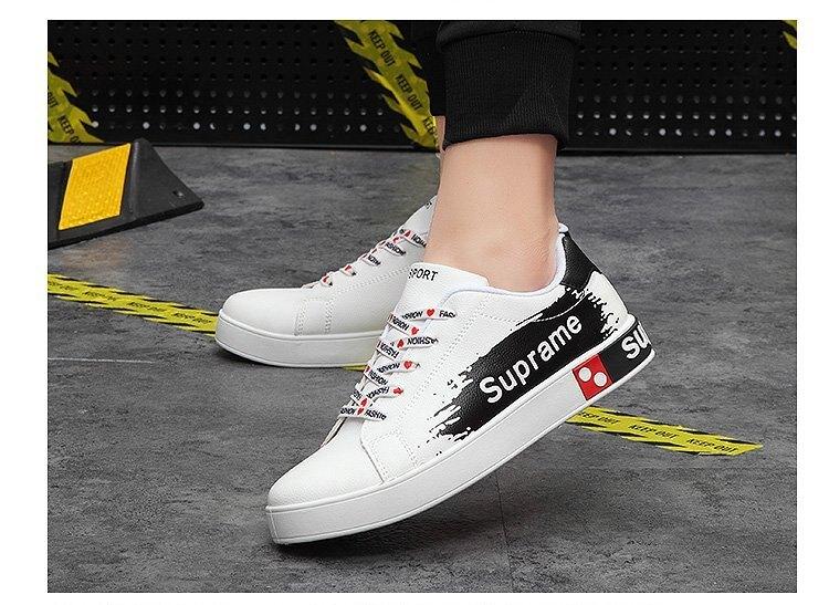FINDSENSE品牌 四季款 新款 日本 男 高品質 潮牌  嘻哈 個性  舒適 耐磨 白色板鞋 休閒鞋 潮流鞋子
