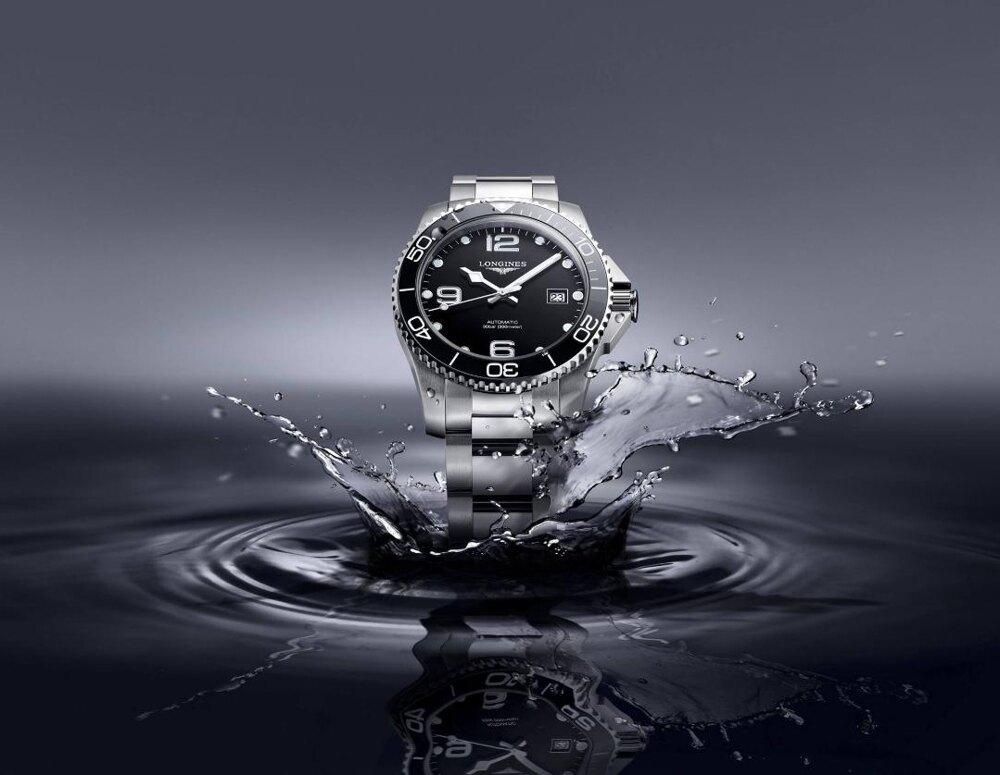【送品牌禮物】 浪琴 深海征服者浪鬼陶瓷潛水機械錶L37814566黑-41mm