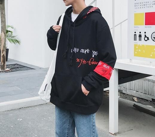 FINDSENSE Z1 日系 時尚 潮 男 時尚 寬鬆 小丑 字母印花 連帽 上衣 衛衣 外套
