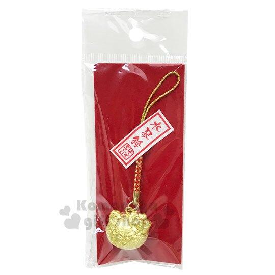【領券折$30】小禮堂 Hello Kitty 大臉造型水琴鈴鐺吊飾《金》掛飾.鑰匙圈