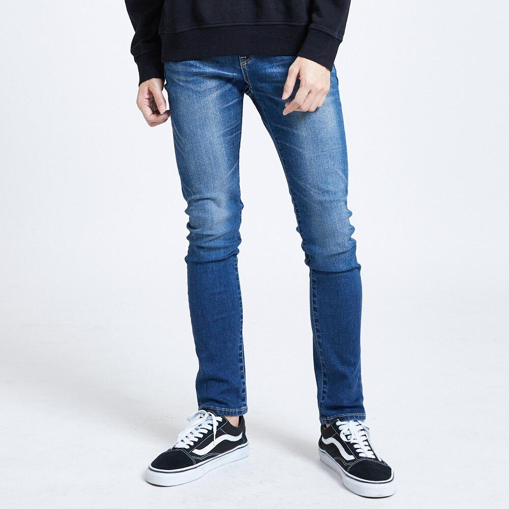 新品↘EDWIN 503 BASIC 輕量涼感 窄直筒牛仔褲-男款 石洗藍 SLIM