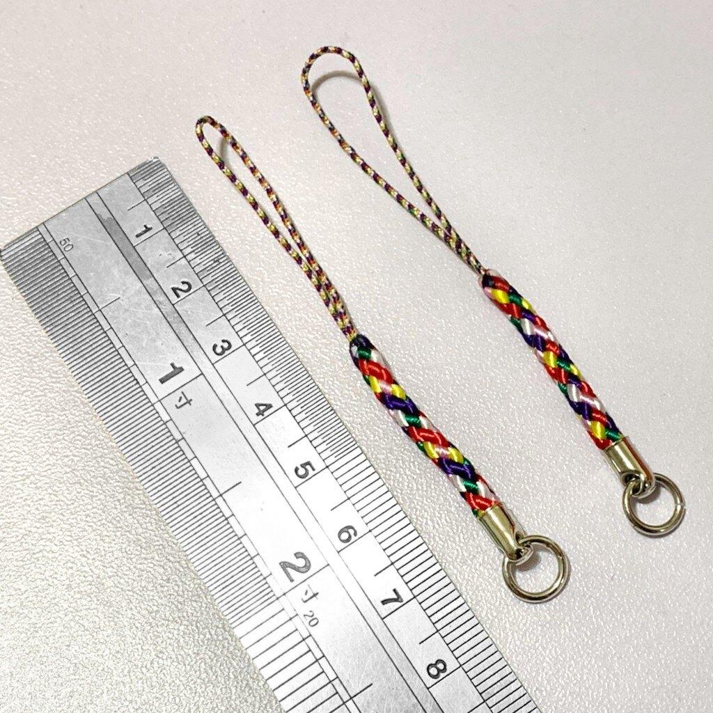 如易品*賴嬤嬤*平安開運-七色線/七彩 DIY-手機吊飾/吊繩、飾品吊飾:誦經加持祈福,好運、好助力