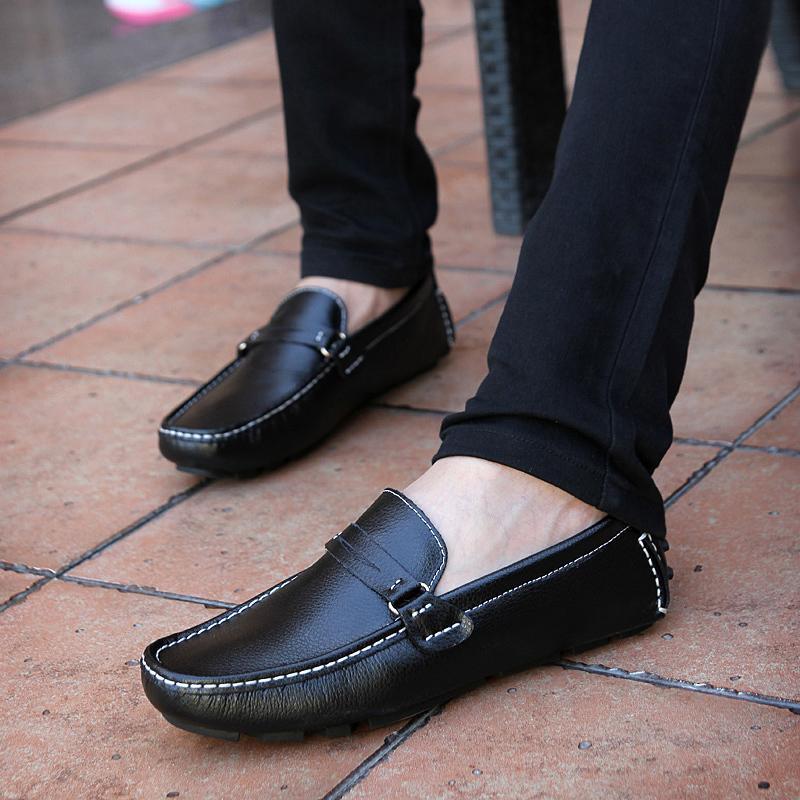 2016春季男士豆豆鞋磨砂休閑鞋皮鞋韓版潮流男鞋英倫駕車鞋帆船鞋