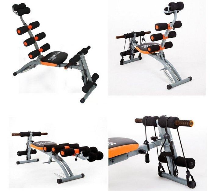 【歐美健身館】健腹肌 扭腰機 仰臥起坐板 拉力繩 啞鈴 伏地體伸 扭腰機 健美機 六合一 健腹肌 運動機 健身
