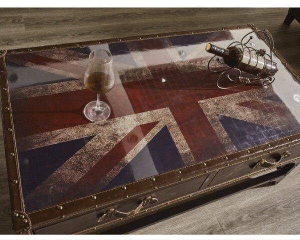 【YUDA】愛德華 3.6尺 復古 英國國旗 大茶几/茶几 J8F 233-2
