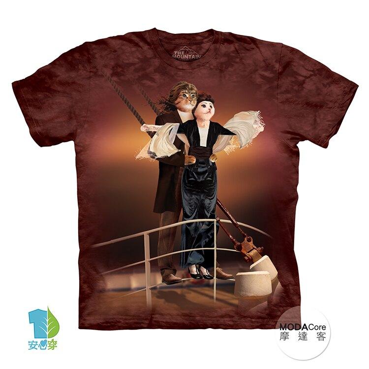 【摩達客】美國進口The Mountain 鐵達尼貓 純棉環保藝術中性短袖T恤