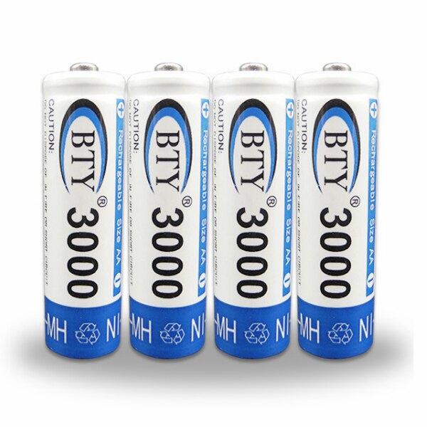 三號電池【4入裝】充電電池 AA電池 3000mAh 大容量 1.2V AA Ni/MH  3號電池 鎳氫電池 持久耐用 充電器可加購 歡迎大量訂購 可開發票(19-443)
