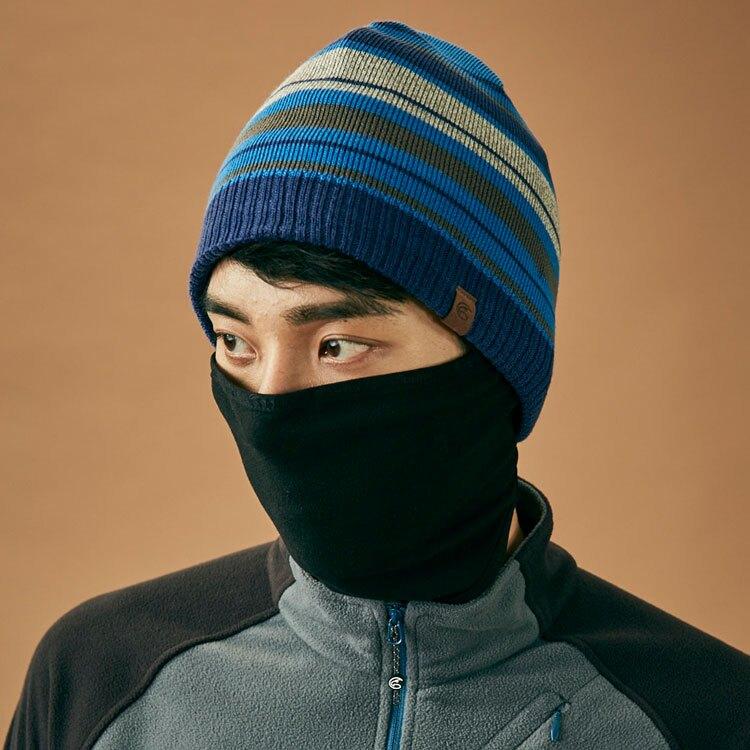 【領券滿$1500折150】ADISI Primaloft針織條紋遠紅外線面罩雙層保暖帽AS18094(F) / 城市綠洲 (帽子、毛帽、針織帽、保暖帽)