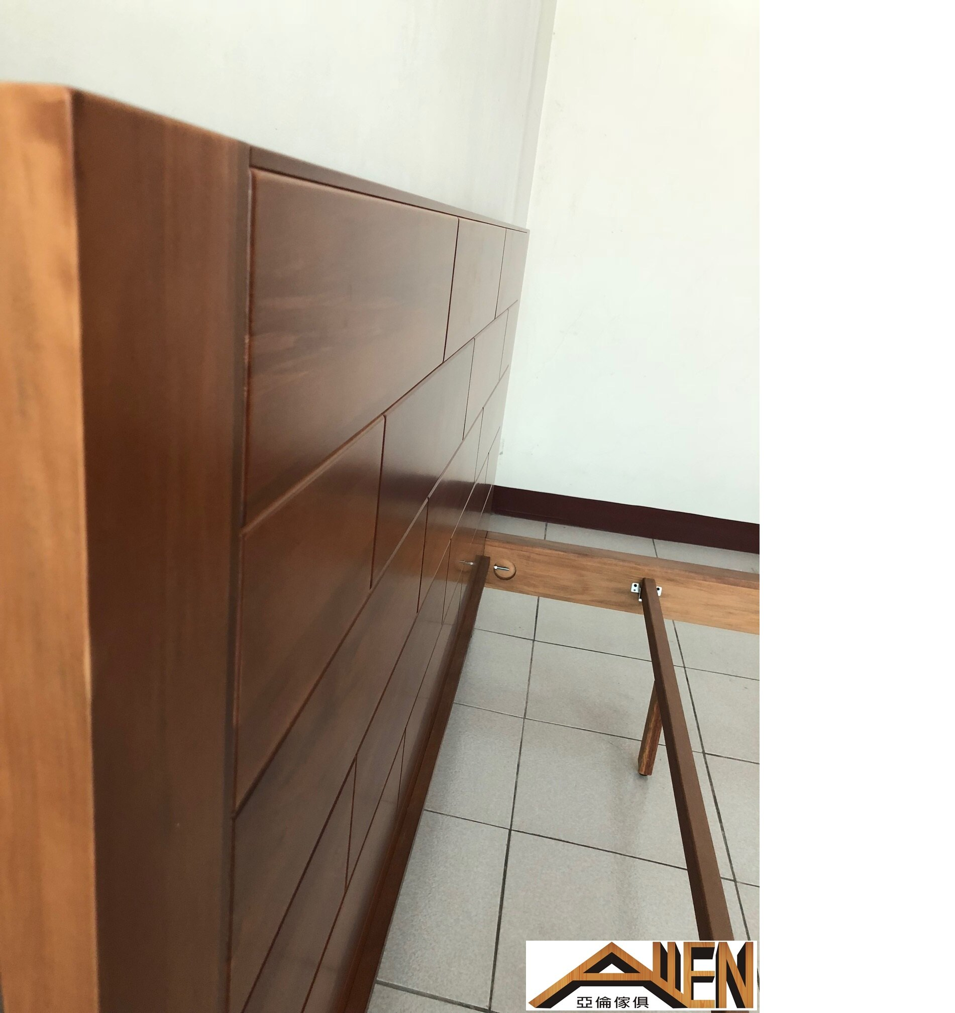 亞倫傢俱*山姆威爾5尺雙人南洋檜全實木床架