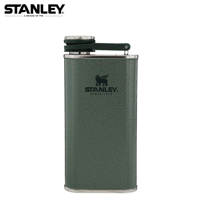 [ STANLEY ] SS Flask 經典酒壺 0.23L 錘紋綠 / 冒險系列 / 公司貨 10-00837-122
