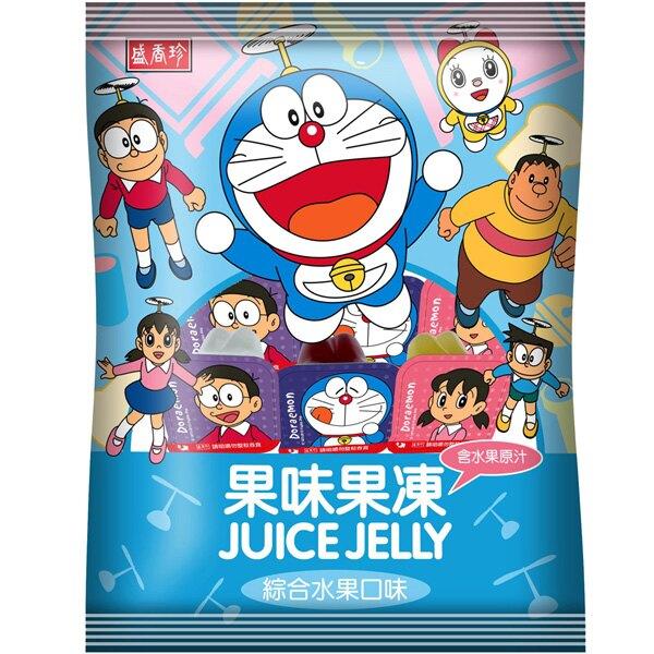 哆啦A夢果味果凍(綜合口味)420gX10包入(箱)【盛香珍】▶ 果凍 哆啦A夢 添加果汁的果味 經典卡通造型包裝童心大開
