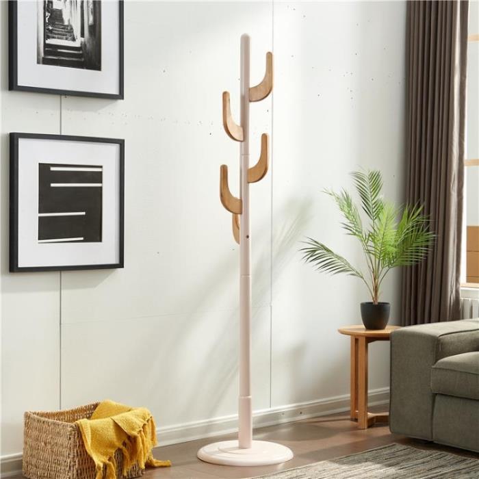 北歐衣帽架落地式實木臥室客廳門廳掛衣架服裝架創意衣物收納架