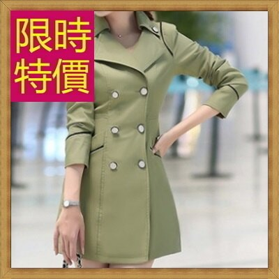 ★風衣外套 女大衣-保暖修身長版女外套4色59o36【韓國進口】【米蘭精品】