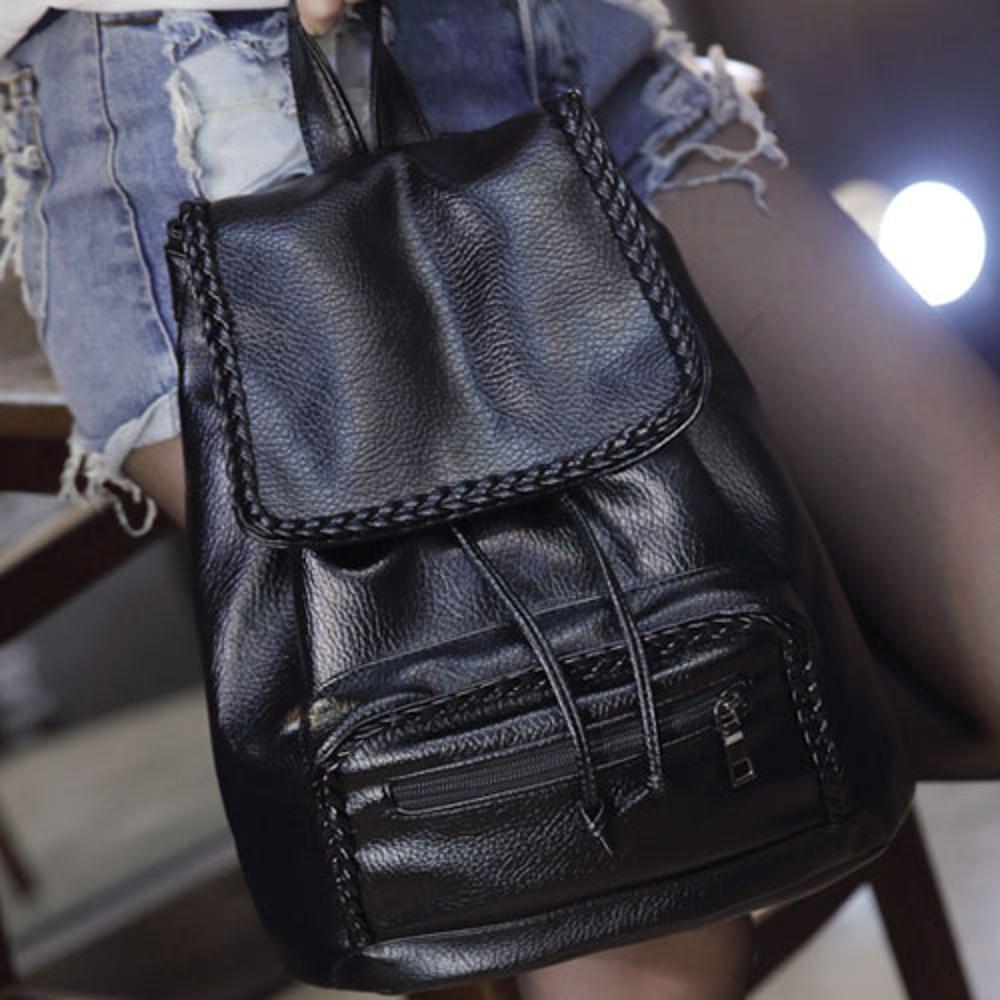 ✤宜家✤【WK16110209】經典時尚編織款百搭後背包 學生書包 潮包
