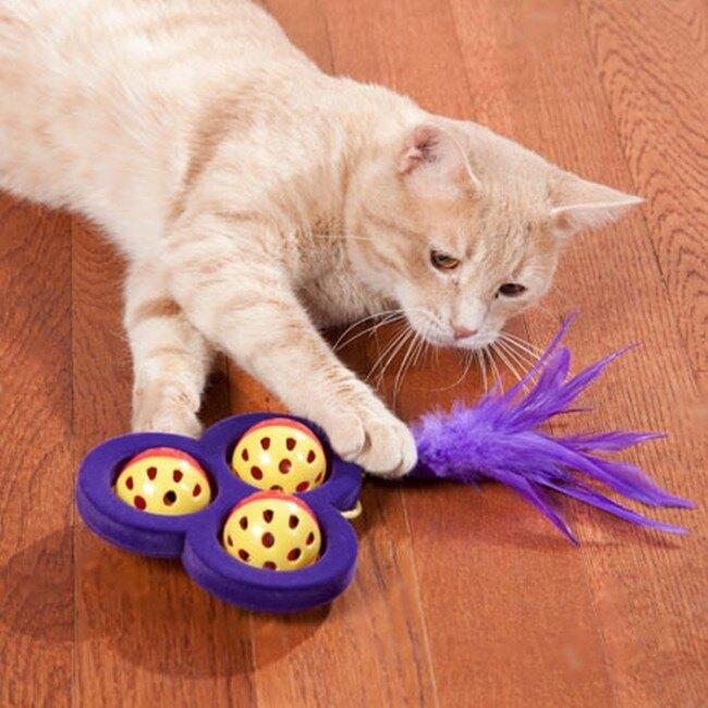 美國KONG 三葉滑輪貓咪玩具(CA412)