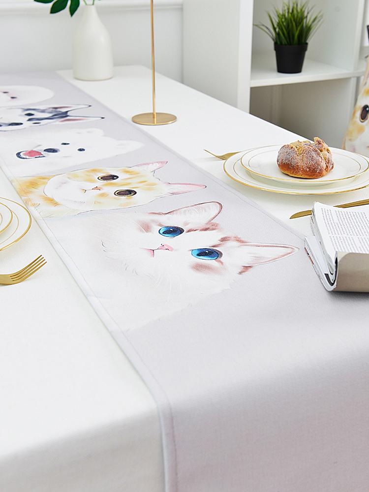 時尚可愛空間餐桌布 茶几布 隔熱墊 鍋墊 杯墊 餐桌巾桌旗726 (30*160cm)