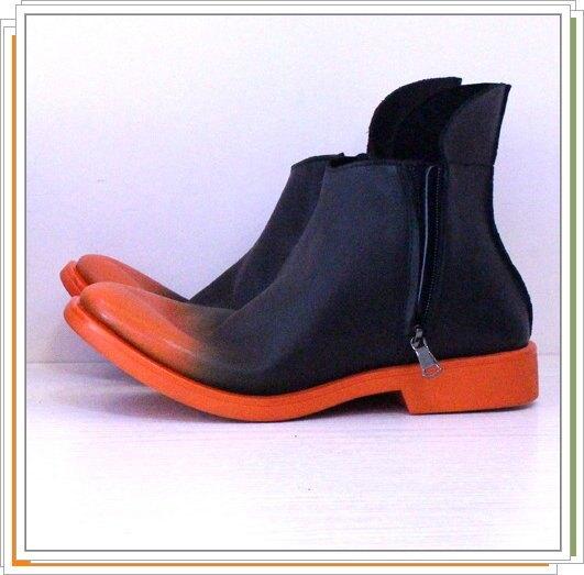 ☆男靴子真皮馬丁靴-英倫時尚經典短筒靴2色5s64【義大利進口】【米蘭精品】