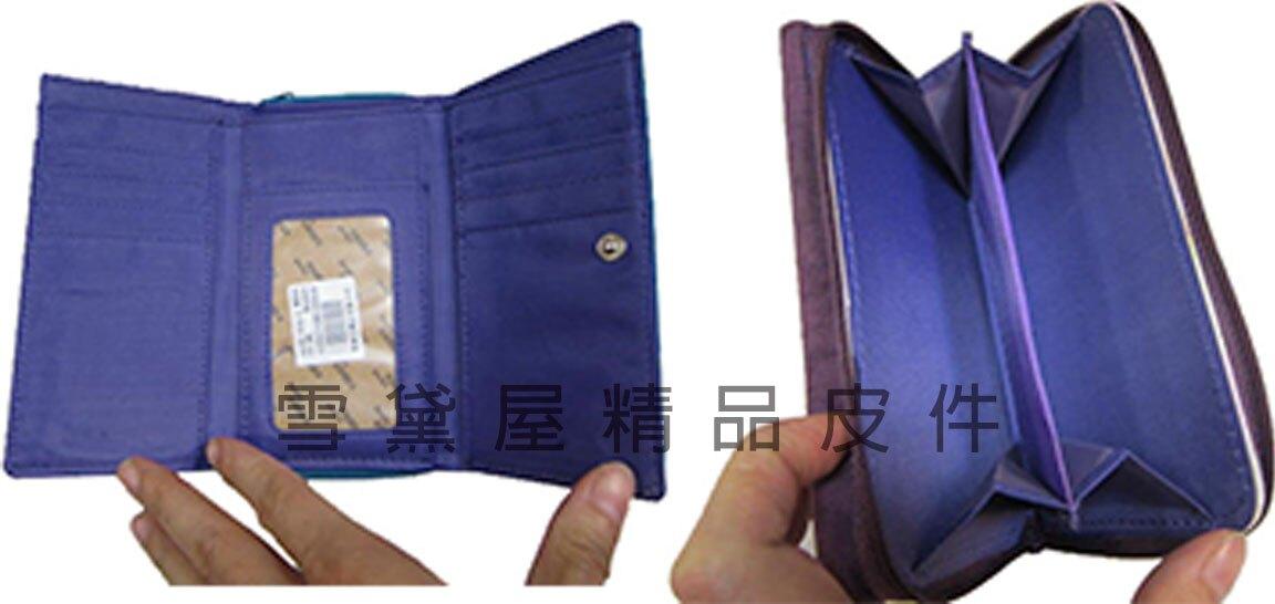 限時 滿3千賺10%點數↘   ~雪黛屋~Velamtino 中型女用休閒皮夾進口專櫃防水尼龍布暗釦型三折式大容量設計 YA136-034