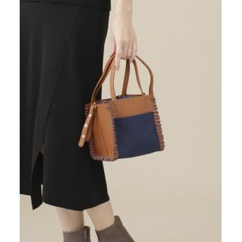 【公式/ナノ・ユニバース】Square Leather Mini Hand Bag 5000円以上送料無料【PROTCOL】