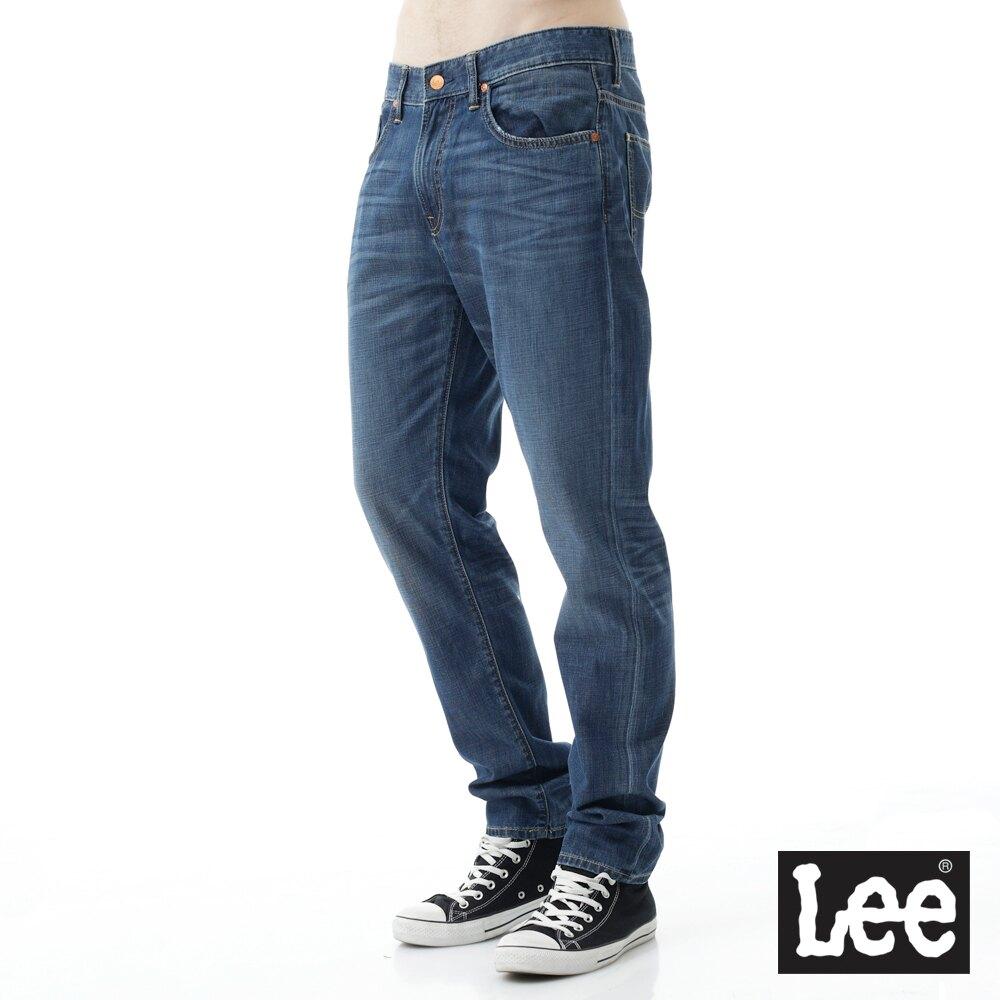 【全館免運 | 滿額↘再折$150】Lee 731 低腰合身小直筒牛仔褲 RG 男款 中淺藍