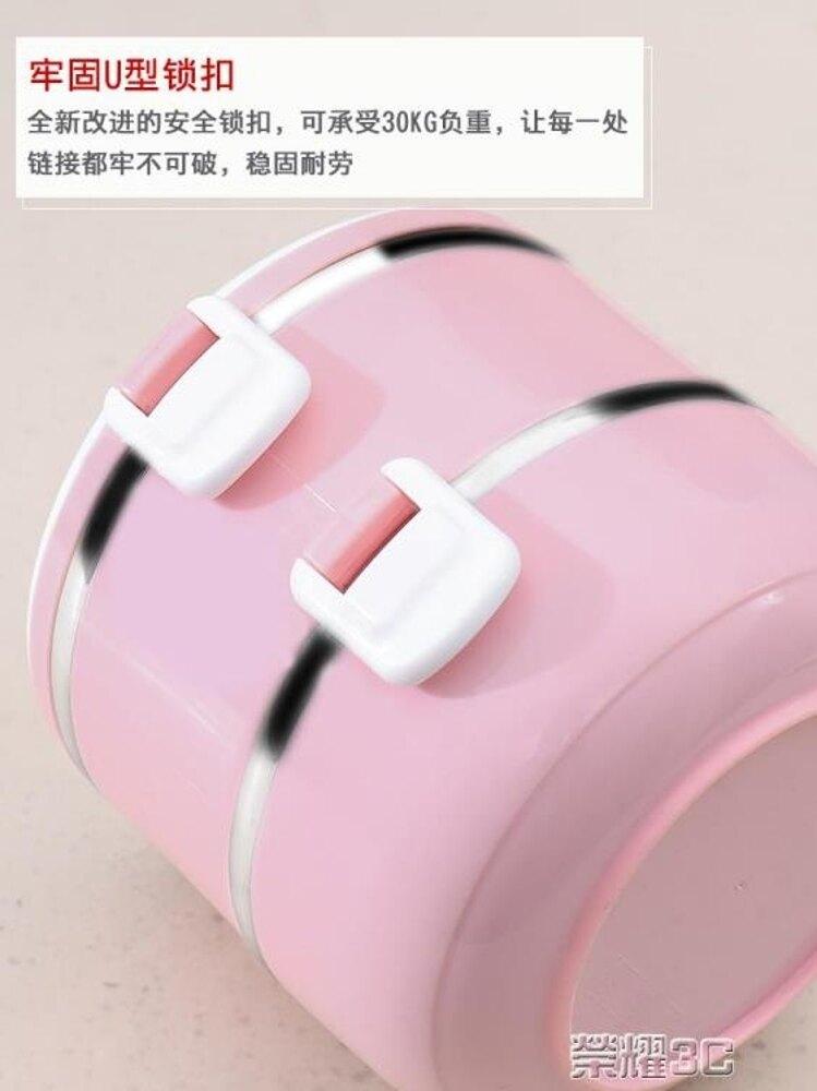 飯盒 304不銹鋼多層保溫飯盒便當盒學生帶蓋韓國三便攜成人女手提飯桶 年貨節預購