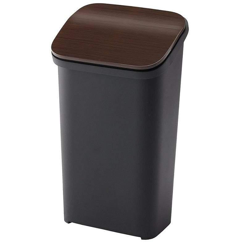 按壓式緩衝垃圾桶 Smooth 系列19L - 四色 木紋色