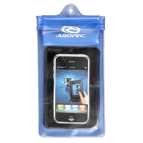 [ AROPEC ] 吊掛式手機防水袋 透明藍 / 公司貨 AG01-190X100-TBU