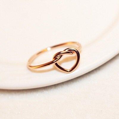 玫瑰金戒指銀飾-柔美氣質愛心設計母親節生日情人節禮物女飾品73by23【獨家進口】【米蘭精品】