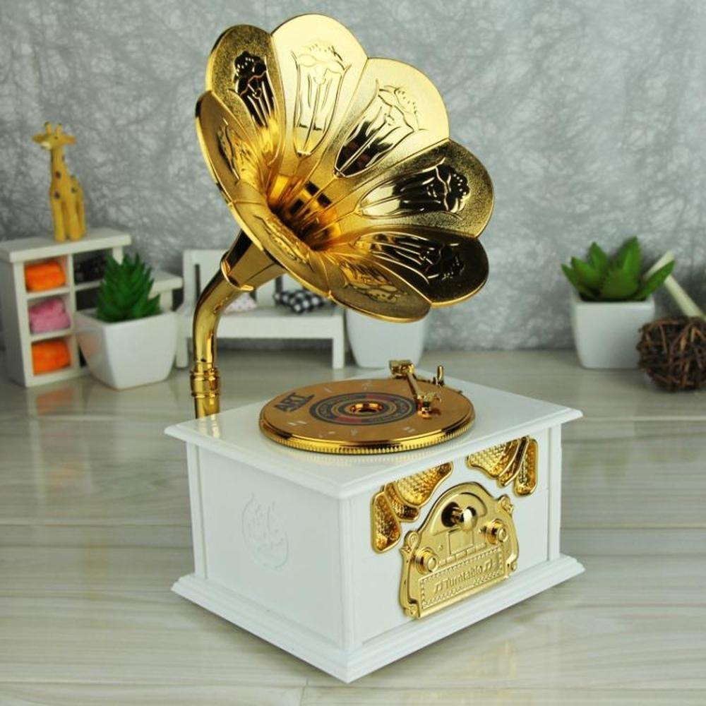 音樂盒復古留聲機八音盒圣誕生日禮物