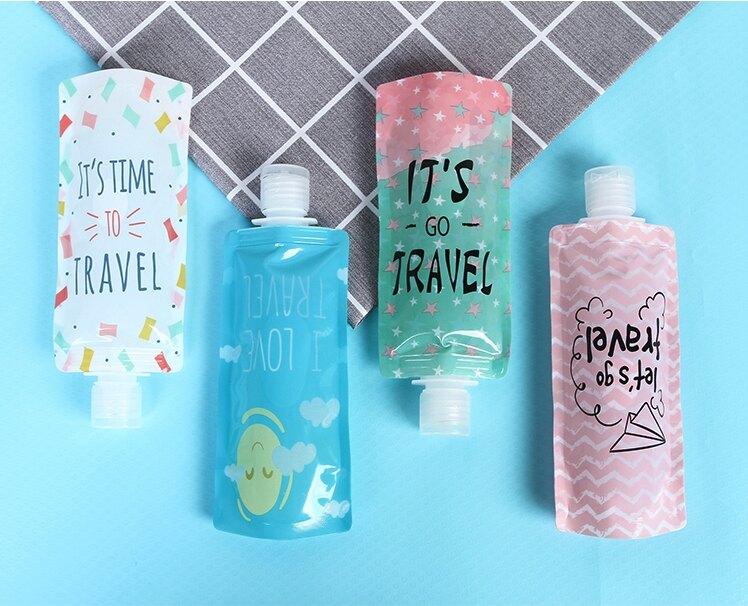 旅行必備 裝乳液洗髮精化妝水都超方便 盥洗用具 分裝瓶 不佔空間 好收納 分裝袋 旅行用具 旅行 出遊 出國