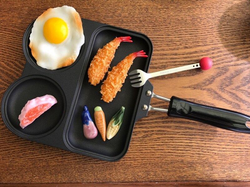 小糖瓷⎥日本製 蛙蛙早午餐超不沾平底鍋/早餐一鍋搞定