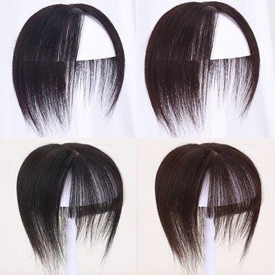 假髮真髮絲-15cm直髮頭頂補髮女假髮2色73uh64【獨家進口】【米蘭精品】