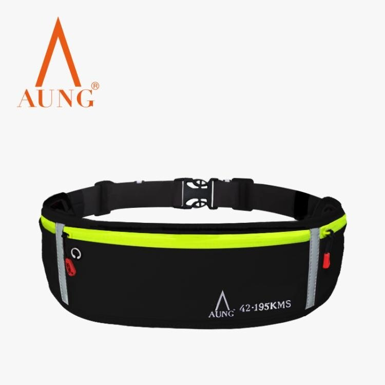 AUNG多功能防潑水運動腰包男女戶外跑步手機包徒步休閒馬拉