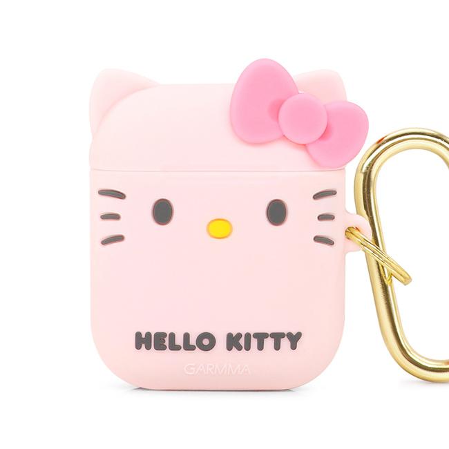 GARMMA Hello Kitty AirPods 1&2代 耳機盒 矽膠保護套 甜蜜粉