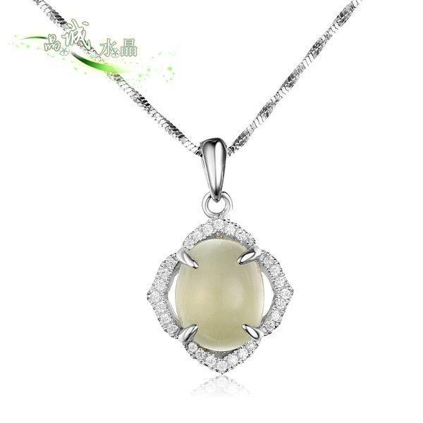 鑲葡萄石芙蓉晶時尚銀 鍍玫瑰直供項墜 吊墜純銀(圖一)(款式5)