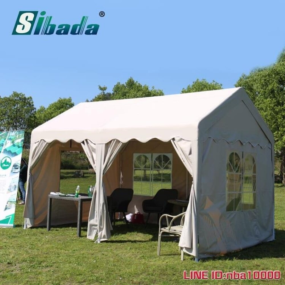 車篷sibada戶外停車棚廣告展覽促銷商業活動防曬遮陽棚擺攤帳篷小房子 MKS摩可美家