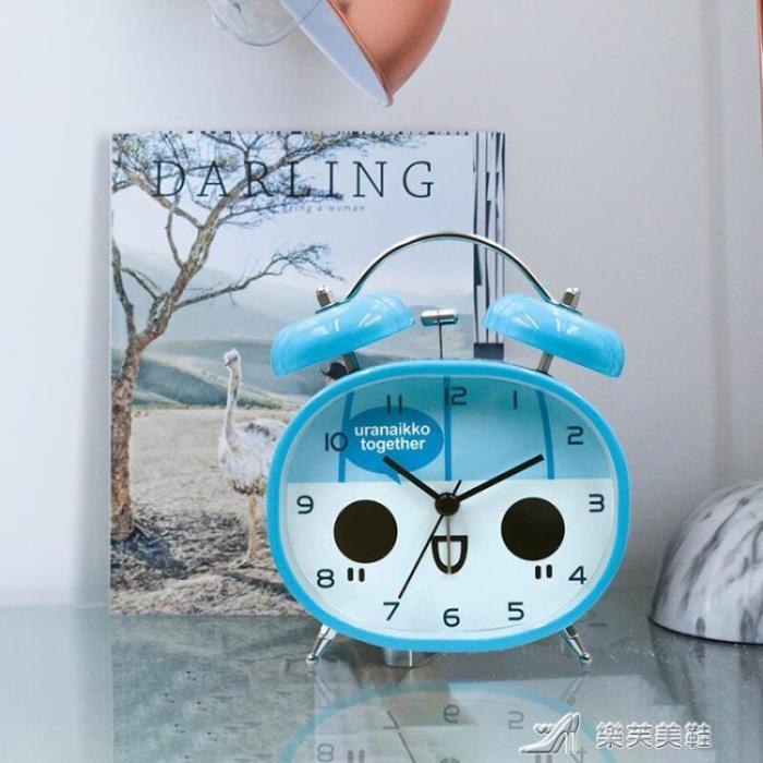 創意鬧鐘靜音床頭兒童鬧鐘簡約個性電子鬧鐘小鬧鐘學生鬧鐘