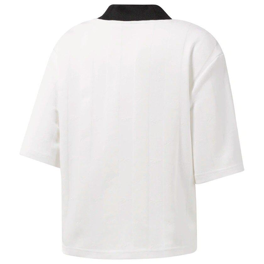 【滿額最高折$430】REEBOK CLASSICS VECTOR TEE 女裝 短袖 休閒 短版 穿搭 針織 透氣 白【運動世界】EB5086