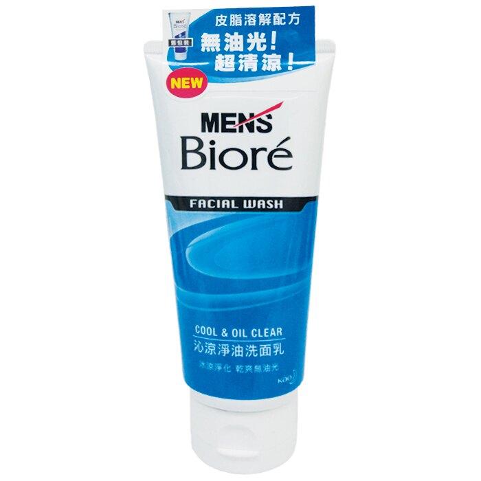 """花王 蜜妮MEN""""s Biore 男性專用 沁涼淨油 洗面乳 100g【康鄰超市】"""