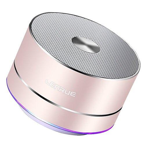 【日本代購】LEnRuE 藍牙迷你小音箱3 W 內置麥克風, LED燈 - 粉色