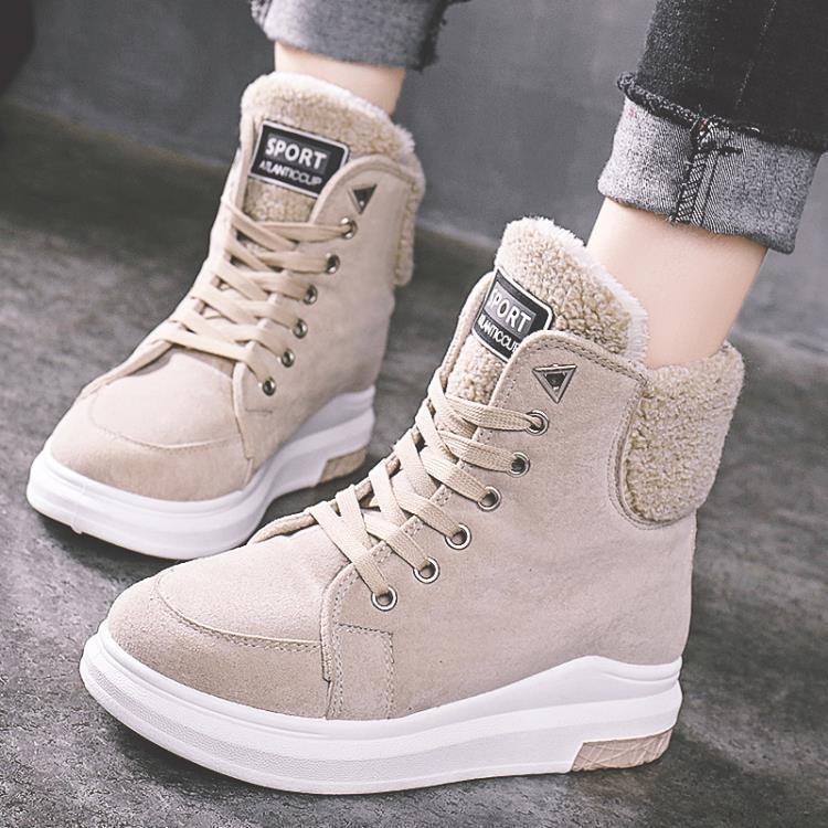 冬季新款雪地靴女 加絨加厚棉鞋女短靴子學生保暖防滑女鞋馬丁靴