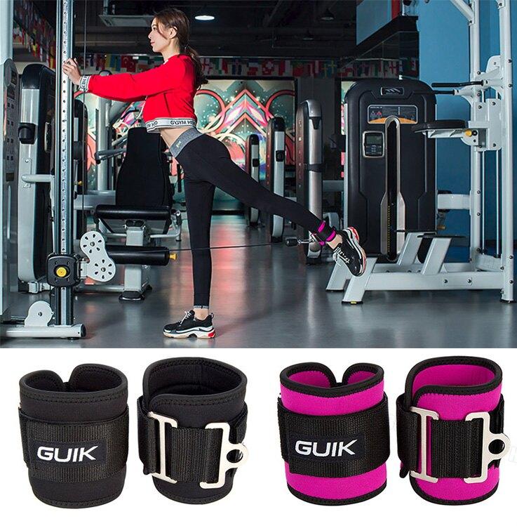 穩定手腕訓練重訓練臀腿部健身訓練器材腳環綁腿扣腳踝綁帶-黑/粉【AAA5792】