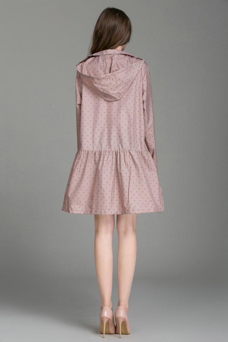 日系洋裝款輕薄風雨衣