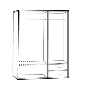【石川家居】16GH12 百葉三拉門衣櫃 (不含其他商品) #訂製預購款式 #南亞塑鋼B