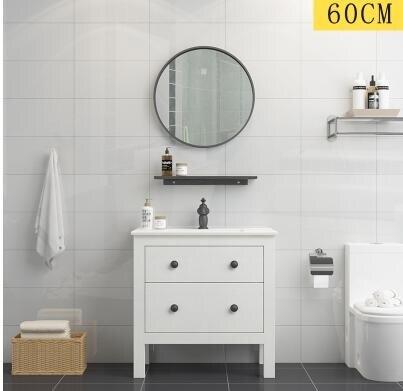 浴室櫃組合北歐現代簡約美式洗臉洗手盆櫃衛生間洗漱臺衛浴落地式