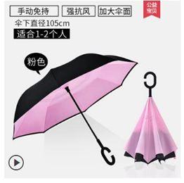 全自動雨傘男免持式反向傘大號長柄女太陽傘防紫外線晴雨兩用黑膠LX