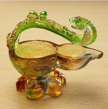 美雅達琉璃工藝品高檔商務禮品送人好禮 福祿如意 新婚精美禮品